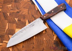 """Carter Cutlery: Muteki - 6"""" Wa-bocho Kitchen Knife - Arizona Desert Ironwood -"""