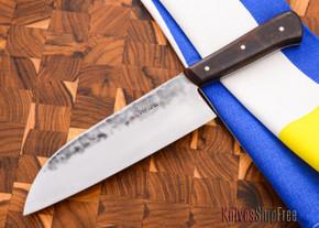 """Carter Cutlery: Muteki - 6.5"""" Wa-bocho Kitchen Knife - Arizona Desert Ironwood"""