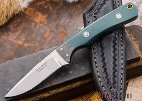 Alan Warren: Custom Neck Knife - Green G-10 / Carbon Fiber Bolster -  Liners