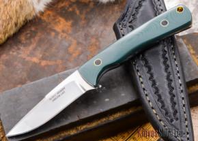 Alan Warren: Custom Neck Knife - Green G-10