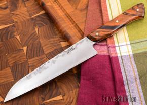 Carter Cutlery: 188mm Muteki - Funayuki Kitchen Knife - Premium Arizona Desert Ironwood