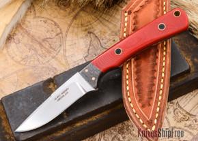 Alan Warren Knives: Custom Neck Knife - Red G-10 - #1811