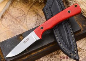 Alan Warren Knives: Custom Neck Knife - Red G-10 - #1806