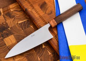 Carter Cutlery: High Grade Funayuki Kitchen Knife - Arizona Desert Ironwood / Black Micarta - 10501