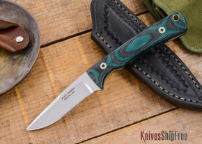 Alan Warren Knives: Custom Neck Knife - Snakeskin Canvas Micarta - #1813