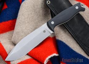 Dan Koster Knives: M.U.C.K. - CPM 3V - Black G-10 - Black Leather