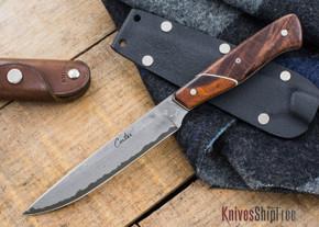 Carter Cutlery: Executive Office Knife - Damascus - Arizona Desert Ironwood  / Stabilized Burl - 22509