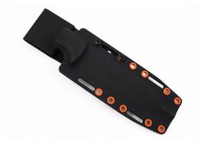 Ambush Knives: Kydex Sheath - Black - Orange Rivets
