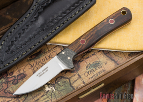 Alan Warren Knives: Custom Neck Knife - Arizona Desert Ironwood - #1759