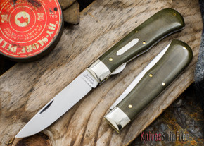 Great Eastern Cutlery: #73 - Tidioute - Trapper - Liner Lock - OD Green Linen Micarta
