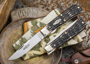 Great Eastern Cutlery: #73 - Northfield Un-X-LD - Trapper - Liner Lock - Appaloosa Horsecut Jigged Bone