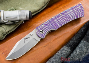 Three Sisters Forge: Beast - Purple Frame - Stonewash Blade