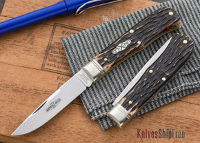 Great Eastern Cutlery: #73 - Northfield Un-X-LD - Trapper - Appaloosa Horsecut Jigged Bone