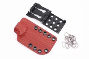 Ambush Knives: Sentry - Kydex Sheath - Red Carbon Fiber