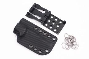 Ambush Knives: Sentry - Kydex Sheath - Black Carbon Fiber
