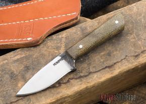 Lon Humphrey: Custom Whitetail Knife - Green Canvas Micarta - 062901