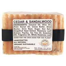 CEDAR & SANDALWOOD 5.5 OZ SOAP