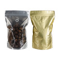 TP-SPSTZ500.GD STand Pouch Side Transparant Zipper 500g Gold Glossy + Valve