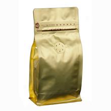 M004PZ.GD gold 100-120g box pouch zipper valve