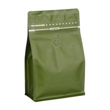 CPPACK-8813 green tea box pouch zipper valve.