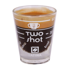 Latina Two Shot espressso glass cup
