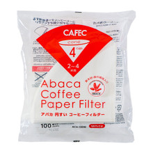 CAFEC ABACA AC4-100W Bleached white V60-02 Filter paper 100 lembar