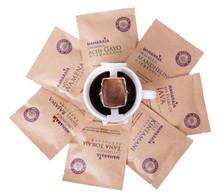 maharaja travel drip coffee top view