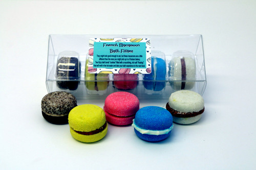 French Macaroon Bath Fizzies