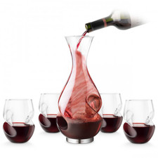 L'Grand Conundrum Aerator Decanter & Wine Glasses