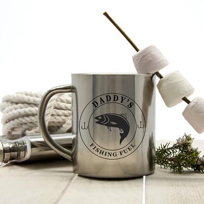 Stainless Steel Personalised Fishing Mug