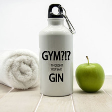 Personalised Water Bottle With Gin Design