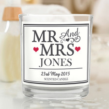 Mr & Mrs Scented Candle