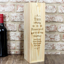 Personalised Wooden Whiskey Box
