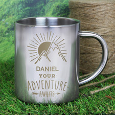 Personalised 'Adventure Metal Mug