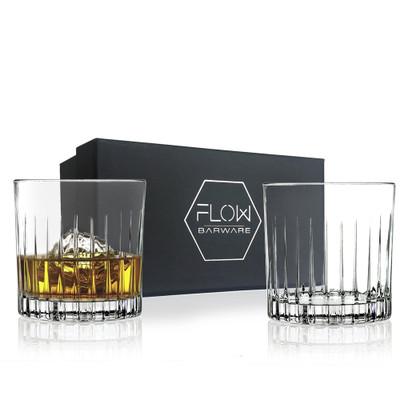 Flow Crystal Whisky Glasses Gift Set