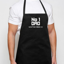 Personalised Black Mens Apron