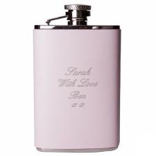 Personalised Pink Hip flask