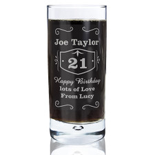 Personalised Jack Daniels Style Glass