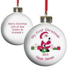 Personalised Christmas Bauble - My First Christmas Bauble