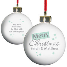 Personalised Christmas Bauble - Snowflake Design