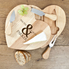Heart Cheese Board Set