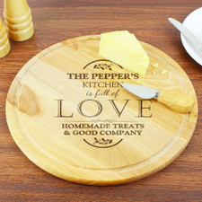 Engraved Round Chopping Board