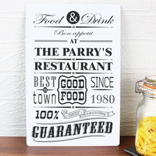Personalised Restaurant Sign