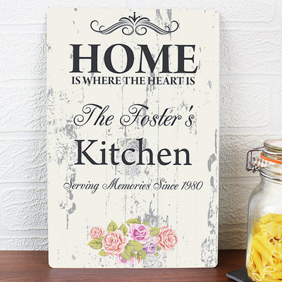 Personalised Shabby Chic Kitchen Sign