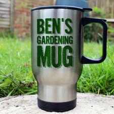 Personalised Gardeners Thermal Mug