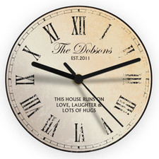 Personalised Kitchen Clock