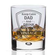 Keep Calm Dad Whisky Glass