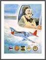 """Red Tailed Angel"" (signed by 4 Tuskegee Fghtr Pilots) ~ Free Shipping"