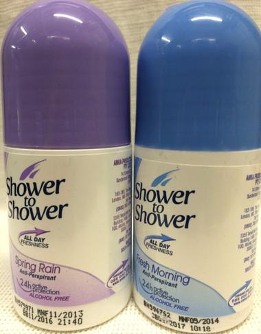 Shower to shower morning fresh deodorant anti-perspirant