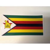 Self Adhesive Stickers Zimbabwean Flag (9cm x 6cm)